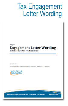 sample tax engagement letter