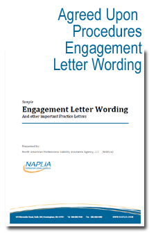 sample AUP engagement letter wording