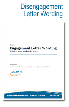 sample disengagement letter