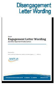 sample disengagement letter