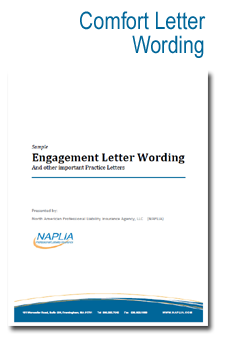 sample comfort letter wording