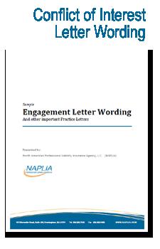 sample conflict of interest letter